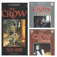 °THE CROW: FLESH & BLOOD 1 bis 3 von 3°US Kitchen Sink Comics 1996 Black & White