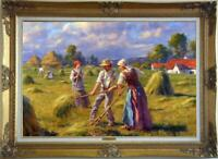 "Hand-painted Old Master-Art Antique Oil Painting farm girl on canvas 24""X36"""