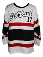 Any Name Number St Cloud Huskies Retro Custom Hockey Jersey White