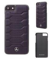 Genuine Mercedes Pattern Leather Case Blue Abyss iPhone 8 Plus 7 Plus 6s Plus