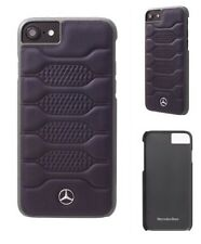 Genuine Mercedes Pattern I Leather Hard Case Blue Abyss for  iPhone 7 & 6s 6
