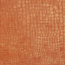 A0151D Orange Textured Alligator Woven Velvet Upholstery Fabric By The Yard