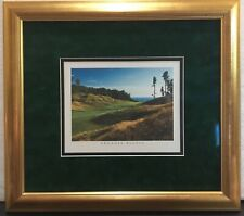 ARCADIA BLUFFS GOLF COURSE PICTURE, TRAVERSE CITY, MICHIGAN MATTED & FRAMED