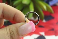 0.30 Ct Diamond Full Eternity Thin Wedding Anniversary Band 14k White Gold GP