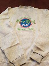 Hard Rock Cafe Washington D.C., Gray Sweatshirt, X-Large, Embroidered, Vintage