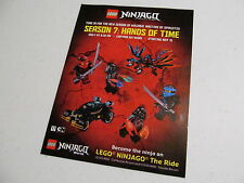 Sticker sheet promo LEGO Ninjago season 7