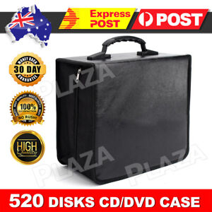 520 Disc CD DVD Case Wallet Storage Holder Album Folder Sleeves Cover Bag Box