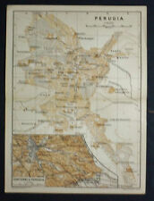 1899 Antica Topografica = PERUGIA =SCALA 1:10000