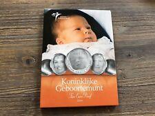 Niederlande 10 Euro 2004 Geburt Catharina Amalia PP Hologramm Folder Silber
