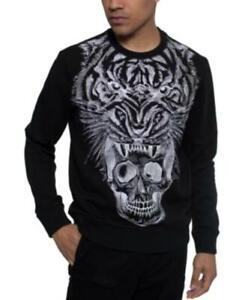 MSRP $89 Sean John Men's Long-Sleeve Tiger & Skull Graphic sweatshirt Size 3XL