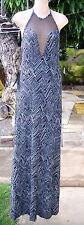 NWT BEBE Black White Jamie Jacquard Knit Maxi Dress M NEW