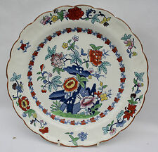 """Vintage Booths Silicon China Meat Plate 10.25"""" Pompadour Pattern Number 8083"""