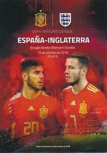 Spain v England (UEFA Nations League in Sevilla) 2018 - Press / VIP programme