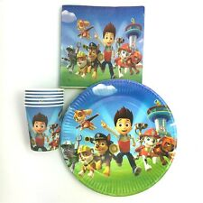 PAW PATROL PARTY PACK PLATES CUPS NAPKINS LOOTBAGS BIRTHDAY 10 GUESTS 50 PIECES