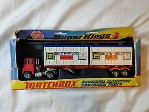 MATCHBOX SUPERKINGS K-17 SCAMMELL CRUSADER CONTAINER TRUCK BOXED 1970s