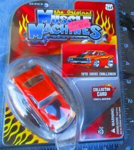 2007 The Original Muscle Machines 1970 Dodge Challenger Series 3 ORANGE 1/64