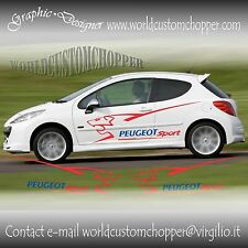 SET GRÁFICOS ADHESIVO LERALI PEUGEOT SPORT COCHE TUNING GRAPHICS PEUGEOT