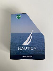 Nautica Mens Belt Size 38-40 Brown/Blue
