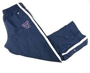 Vintage Champion Villanova Wildcats Basketball Warm Up Tear away Pants XL