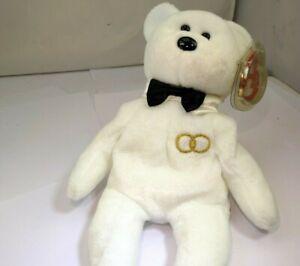 "TY Beanie Babies ""Mr"" USA 8"" with tags Teddy Bear Groom for Wedding Anniversary"