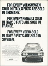 1974 Fiat 124 Coupe Vintage Original Advertisement Print Art Car Ad J755A