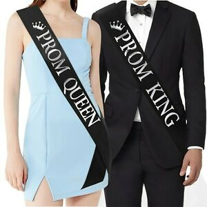 """""""Prom King"""" and""""Prom Queen"""" Sashes - Graduation Party School Party Accessorie..."""