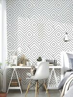 2 Geometric Print Wallpaper Sticker Wall Accent Contact Paper Free Shipping Sale