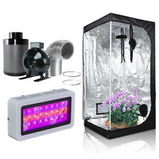 """36''x20''x63''Grow Tent+4""""Inline Fan Carbon Air Filter Duct Combo+300W LED Light"""