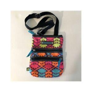 Crossbody Lily Bloom Messenger Bag  Fabric Medium Pink