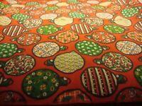 "True Vintage Retro Set (6) Red Ornament-Theme Table Linen Napkins 17"" Square 244"