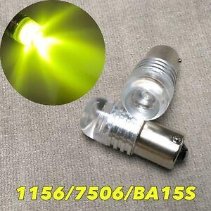1156 7506 BA15S P21W Rear Turn Signal Yellow 5W Cree LED bulb W1 E