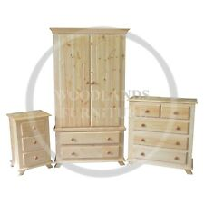 HAND MADE CROWN PINE 3 PIECE BEDROOM SET , MANY COLOURS AVAILABLE (ASSEMBLED)