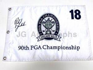 "Phil Mickelson Autographed ""90th PGA Championship"" Oakland Hills Flag PSA LOA"