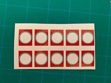 LEGO Panel 10pcs 1 x 2 x 2 Red Porthole Train Window Sticker