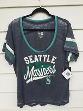 NWT Seattle Mariners Women's Shirt XXL 2xl Grey Short Sleeves