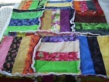 Handmade Rag quilt placemat Fruits and Vegetables jellyroll patchwork