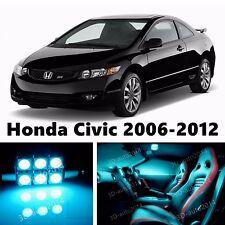 8pcs LED ICE Blue Light Interior Package Kit for Honda Civic 2006-2012