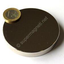 Super Magnete Disco al Neodimio diam. 70x10 mm Potenza 230 Kg Acqua Magnetizzata