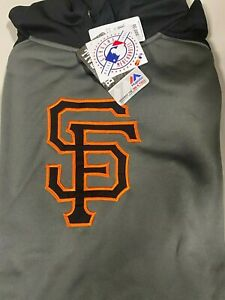 San Francisco Giants Men's Majestic MLB Club Raglan Pullover Hoodie Big & Tall