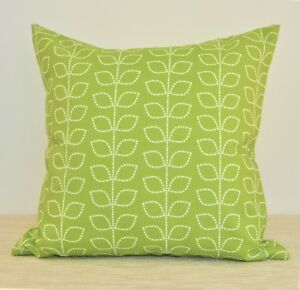 """Green Leaves WATERPROOF OUTDOOR Throw Pillow cover 18"""" Green Cushion cover"""
