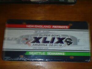 NFL New England Patriots Vs Seattle Seahawks Super Bowl XLIX 2015 License Plate