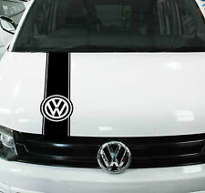 VW TRANSPORTER BONNET STRIPES STICKER DECAL T4 T5 T6 CADDY VAN GOLF GRAPHIC