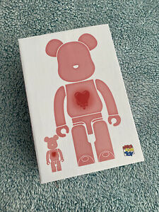 Bearbrick x Emotionally Unavailable Red Heart 100% and 400% Unopened New In Box