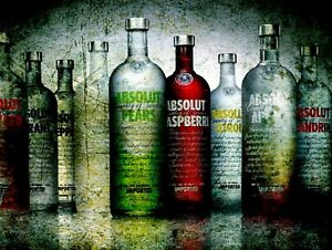 Absolut Vodka, Retro metal Sign/Plaque Wall vintage / Bar Gift