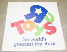 Toys R Us The World's Greatest Large 47in x 48in Vinyl Banner store display Sign