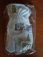 Mens Leather Work Gloves, Superior Endura-Goatskin–Kevlar Lined, Size Large