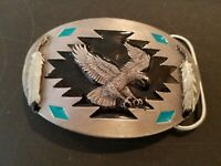 Belt Buckle Collectors Items VINTAGE WESTERN CRAFTED EAGLE AND FEATHERS