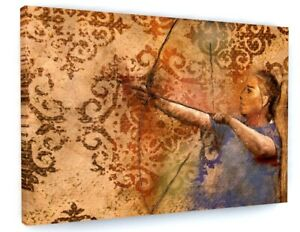 STUNNING NATIVE INDIAN ARCHER CANVAS PICTURE PRINT WALL ART 6371