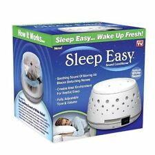 Sleep Easy Sound Conditioner White Noise Machine Baby Therapy Dorm GREAT VALUE