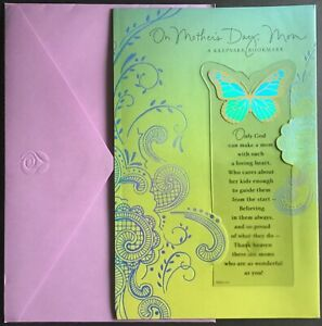 """NEW Card With Envelope - Mother's Day - American Greetings - 6"""" X 9"""" - Bookmark"""